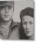 Couple Portrait 2 Metal Print