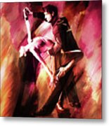 Couple Tango Art Metal Print