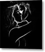 Couples Embrace Metal Print