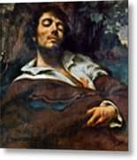 Courbet: Self-portrait Metal Print