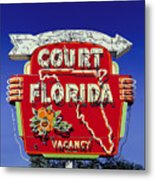Court Florida Metal Print