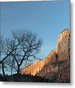 Court Of The Patriarchs Sunrise Zion National Park Metal Print