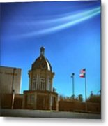 Courthouse And Flags Metal Print