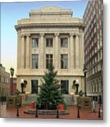 Courthouse At Christmas Metal Print