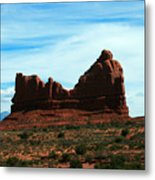 Courthouse Rock In Arches National Park Metal Print