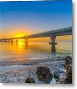 Courtney Campbell Bridge Sunrise - Tampa, Florida Metal Print