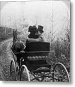 Courtship/carriage Ride Metal Print