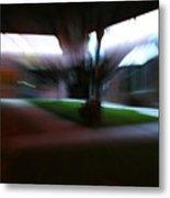 Courtyard At Night Metal Print