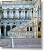 Courtyard At The Doge Palace Metal Print