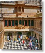 Courtyard, City Palace, Udaipur Metal Print