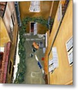 Courtyard In Milan Metal Print