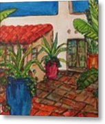 Courtyard In Rancho Santa Fe Metal Print
