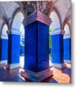 Courtyard In Santa Catalina Convent Metal Print
