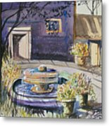 Courtyard In The Morning Metal Print