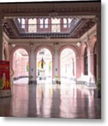 Courtyard Of The Central Post Office, Lima Peru Metal Print