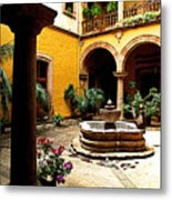 Courtyard Off The Cafe Metal Print