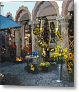 Courtyard Shop Metal Print