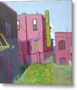 Courtyard View Metal Print