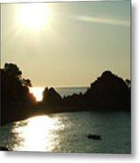 Cove At Night Metal Print