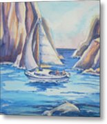 Cove Sailing Metal Print