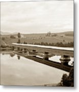 Very Long Covered Bridge Over A River Metal Print