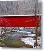 Covered Bridge Along The Wissahickon Creek Metal Print