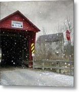 Covered Bridge In Logan Mills Metal Print