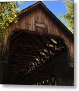 Covered Bridge In Woodstock Metal Print