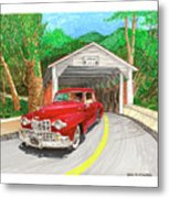 Covered Bridge Lincoln Metal Print
