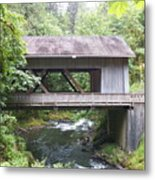 Covered Bridge Of Cedar Creek Metal Print