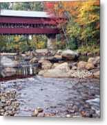 Covered Bridge Over The Swift River  Metal Print