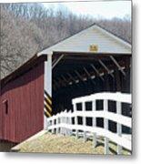 Covered Bridge Pa Metal Print