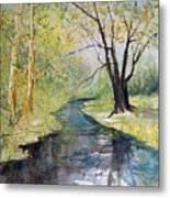 Covered Bridge Park Metal Print