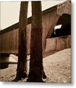 Covered Bridge Southern Indiana Metal Print