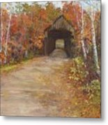 Covered Bridge  Southern Nh Metal Print by Jack Skinner