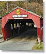 Covered Bridge Vermont Metal Print