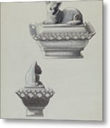 Covered Dish (cat) Metal Print