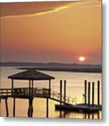 Covered Dock Metal Print