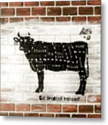 Cow Cuts Metal Print