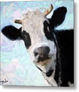 Cow Head Metal Print