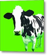 Cow In A Green World Metal Print