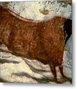 Cow: Lascaux, France Metal Print