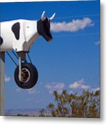 Cow Power Metal Print