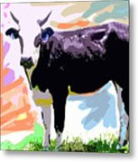 Cow Time Metal Print