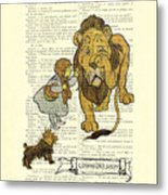Cowardly Lion, The Wizard Of Oz Scene Metal Print