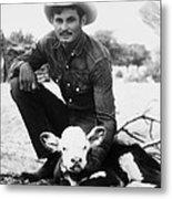 Cowboy, 20th Century Metal Print