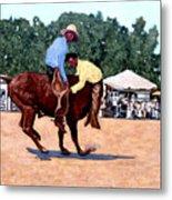 Cowboy Conundrum Metal Print by Tom Roderick