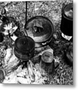 Cowboy Cooking Metal Print
