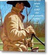Cowboy In Pastel With Scripture Verse Metal Print