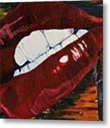 Cowboy Lips Metal Print